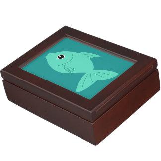 かわいい魚のカスタムな記念品箱 ジュエリーボックス