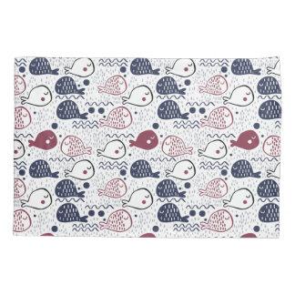 かわいい魚パターン枕カバー 枕カバー
