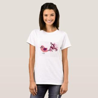 かわいい鳥のグラフィックアートのTシャツ Tシャツ