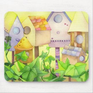 かわいい鳥の家 マウスパッド