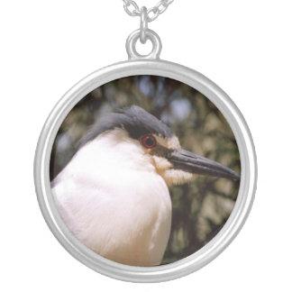 かわいい鳥 シルバープレートネックレス