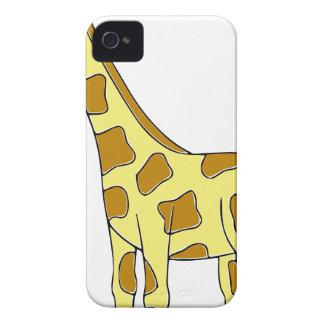 かわいい黄色ブラウンのキリン Case-Mate iPhone 4 ケース
