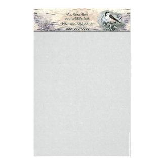 かわいい黒によっておおわれる《鳥》アメリカゴガラの樺の木吠え声 便箋