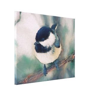 かわいい黒によっておおわれる《鳥》アメリカゴガラの絵画 キャンバスプリント
