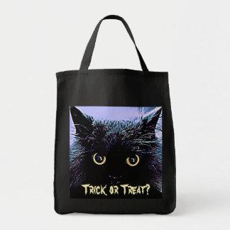かわいい黒猫のハロウィンのトリック・オア・トリートのバッグ トートバッグ