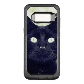 かわいい黒猫のポートレート オッターボックスコミューターSamsung GALAXY S8 ケース