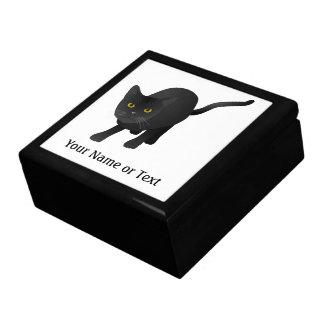 かわいい黒猫を個人化して下さい ギフトボックス