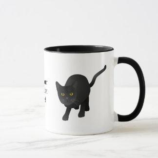かわいい黒猫を個人化して下さい マグカップ
