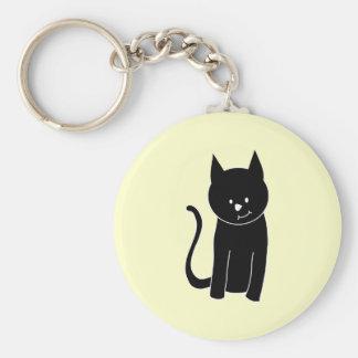 かわいい黒猫 キーホルダー