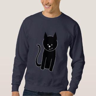 かわいい黒猫 スウェットシャツ