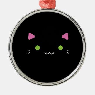 かわいい黒猫 メタルオーナメント