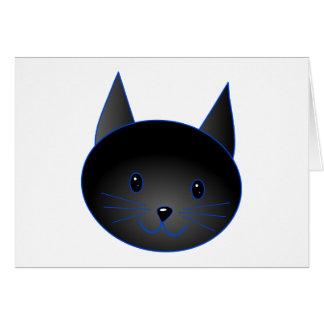 かわいい黒猫。 猫の漫画の実例 カード