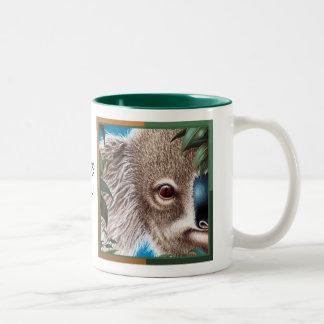かわいい100%! 骨董品のコアラのマグ ツートーンマグカップ