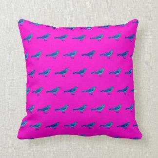 """かわいい16"""" x 16""""鳥パターンが付いているピンクの装飾用クッション クッション"""