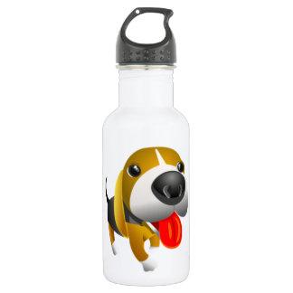 かわいい3dバセットハウンド犬 ウォーターボトル
