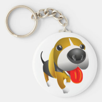かわいい3dバセットハウンド犬 キーホルダー