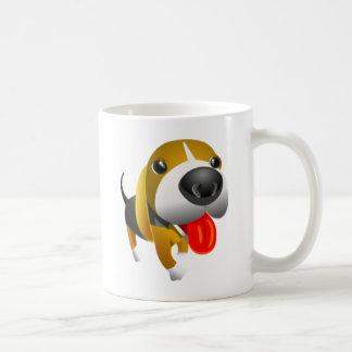 かわいい3dバセットハウンド犬 コーヒーマグカップ