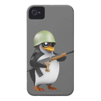 かわいい3dペンギンの兵士(編集可能) Case-Mate iPhone 4 ケース