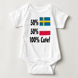 かわいい50%のスウェーデン人50%のポーランド語100% ベビーボディスーツ