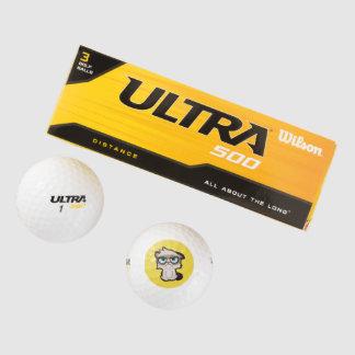 かわいい、おもしろいおよびおもしろいなgrimmy猫のゴルフ・ボール ゴルフボール