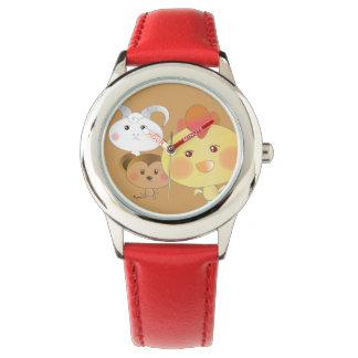 かわいい! ひよこ及び猿及び子ヒツジ 腕時計