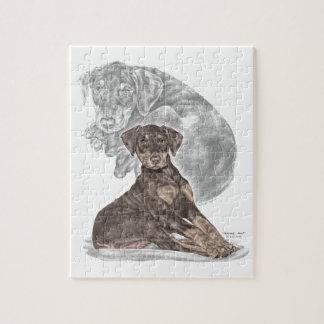 かわいい(犬)ドーベルマン・ピンシェルの子犬 ジグソーパズル