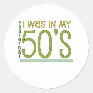 """かわいい、""""第60誕生日""""のデザイン ラウンドシール"""