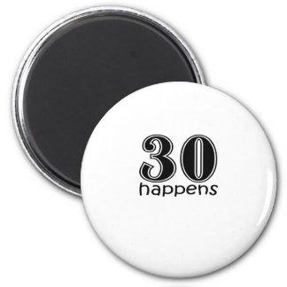 """かわいい、""""30デザイン""""は起こります マグネット"""