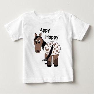 かわいいAppyの幸せで総括的なAppaloosaのTシャツ ベビーTシャツ