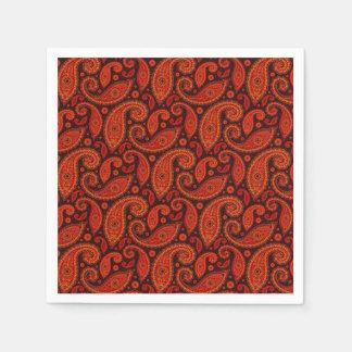 かわいいbownの渦巻のペイズリーパターン スタンダードカクテルナプキン