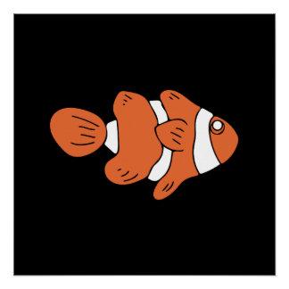 かわいいclownfish ポスター