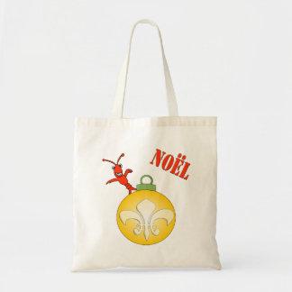かわいいCrawfishの(紋章の)フラ・ダ・リのNoelのクリスマスのトート トートバッグ