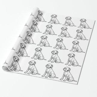 かわいいDalmatian子犬 包み紙