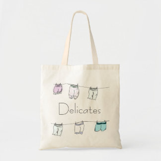 かわいいDelicatesの洗濯のバッグのヴィンテージのスタイルの引出し トートバッグ