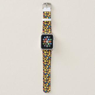 かわいいEmojiのプリントの時計バンド Apple Watchバンド