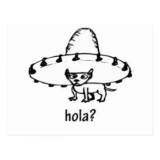 かわいいHolaのチワワのデザイン ポストカード