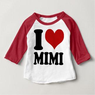 かわいいIのハートMimi ベビーTシャツ
