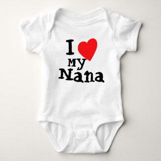 かわいいI愛私のナナのベビーのボディスーツ ベビーボディスーツ