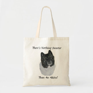 かわいいjapenese秋田犬の現実主義者の動物の芸術のバッグ トートバッグ