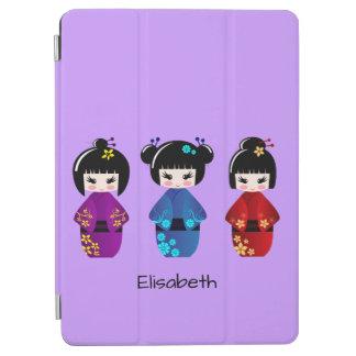 かわいいkokeshiの人形の漫画の名前 iPad air カバー