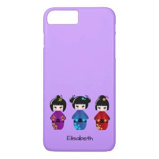 かわいいkokeshiの人形の漫画の名前 iPhone 8 plus/7 plusケース
