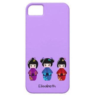 かわいいkokeshiの人形の漫画の名前 iPhone SE/5/5s ケース