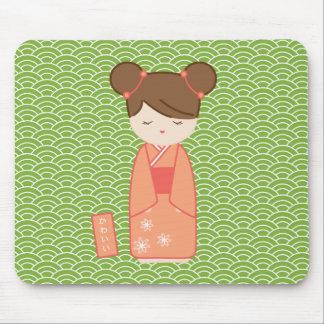 かわいいKokeshi マウスパッド