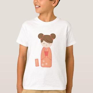 かわいいKokeshi Tシャツ