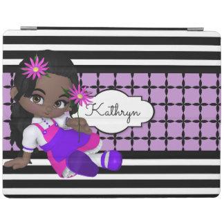 かわいいLilの女の子w/Modernパターン iPadスマートカバー