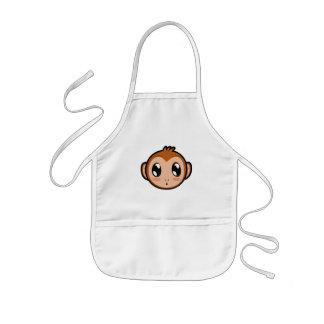 かわいいLil猿のエプロン 子供用エプロン