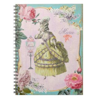 かわいいMarieアントワネット-ノート/6.5x8.75 ノートブック