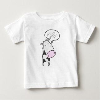 かわいいMoo牛子供 ベビーTシャツ