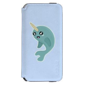 かわいいNarwhal iPhone 6/6sウォレットケース