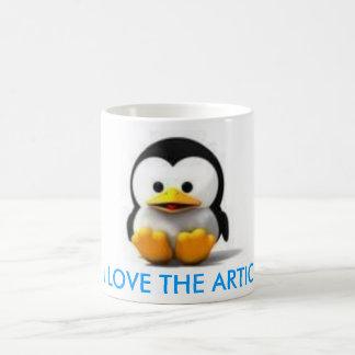 かわいいPiNGUiN、私はARTIC愛します コーヒーマグカップ